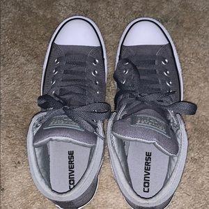high top gray converse